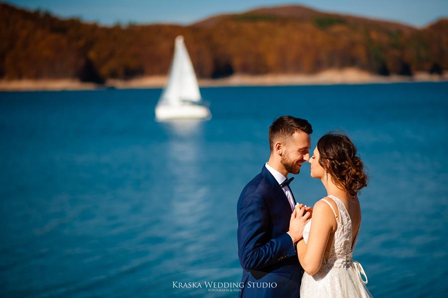 Justyna & Daniel | Stobierna, plener ślubny nad Soliną